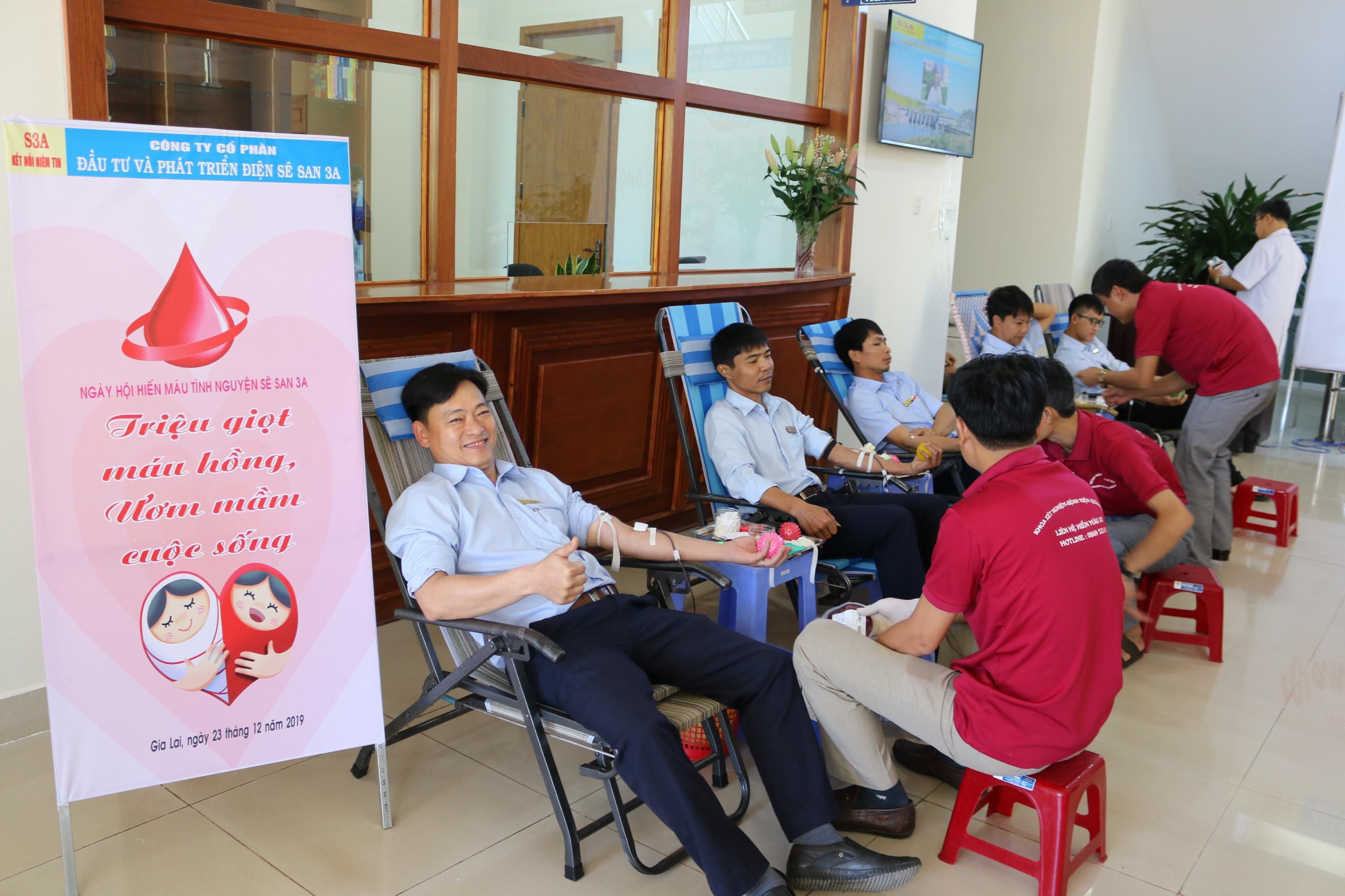 Ngày hội hiến máu tình nguyện Sê San 3A lần thứ 3 năm 2019