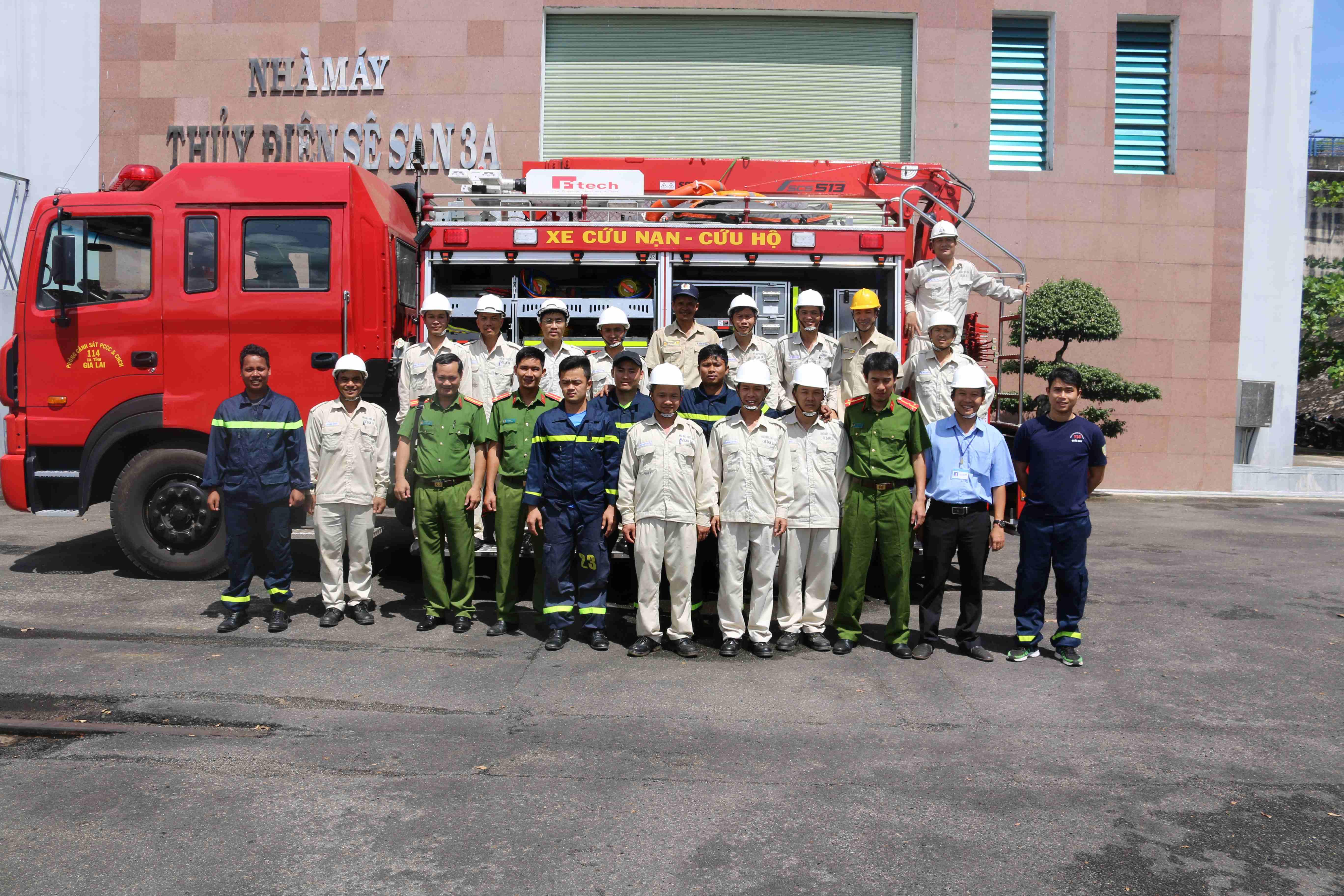 Huấn luyện nghiệp vụ công tác phòng cháy, chữa cháy và cứu nạn, cứu hộ năm 2018