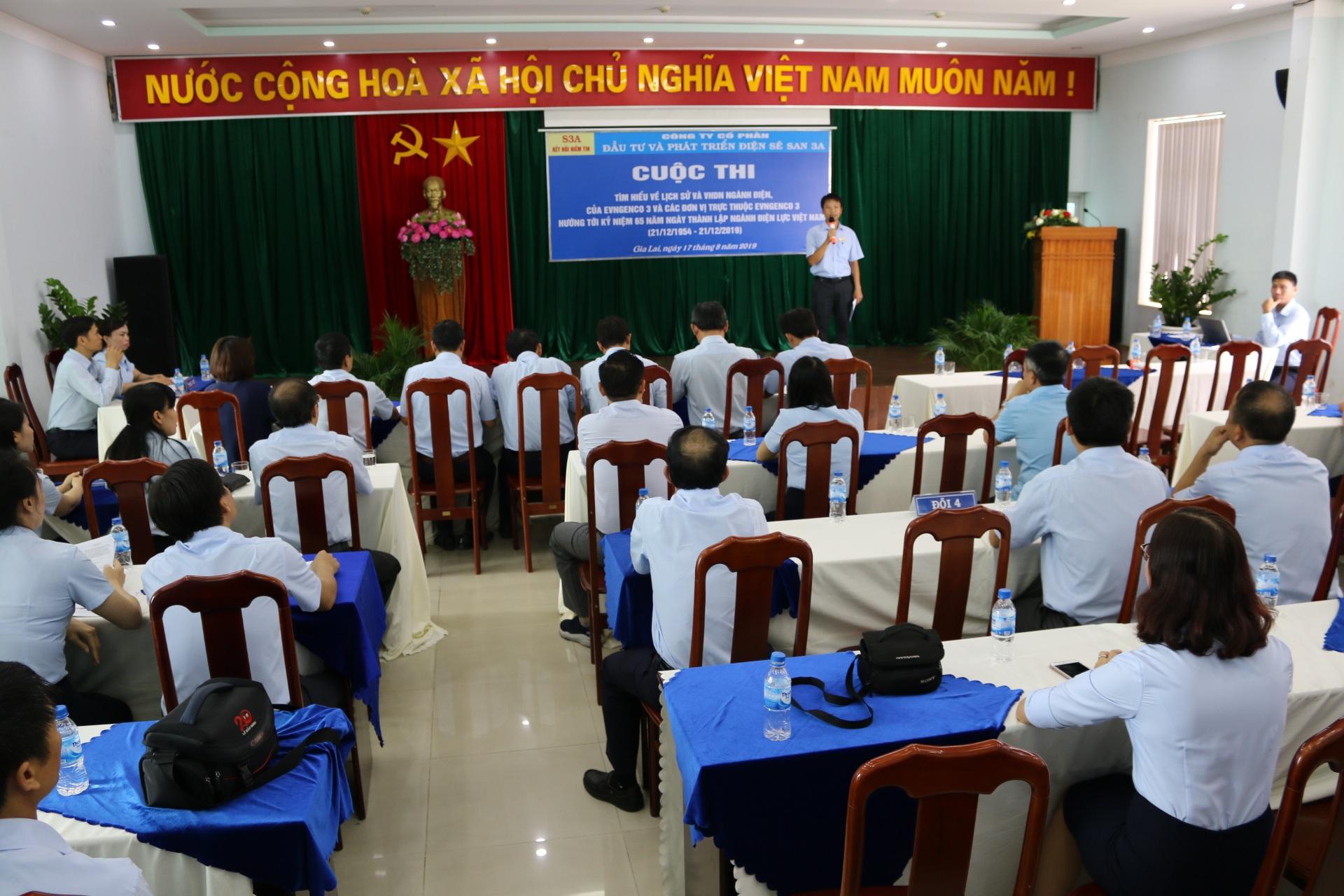 Cuộc thi tìm hiểu về lịch sử và VHDN của ngành điện, của EVN Genco 3 và các đơn vị hướng đến kỷ niệm 65 năm ngày truyền thống ngành Điện lực Việt Nam