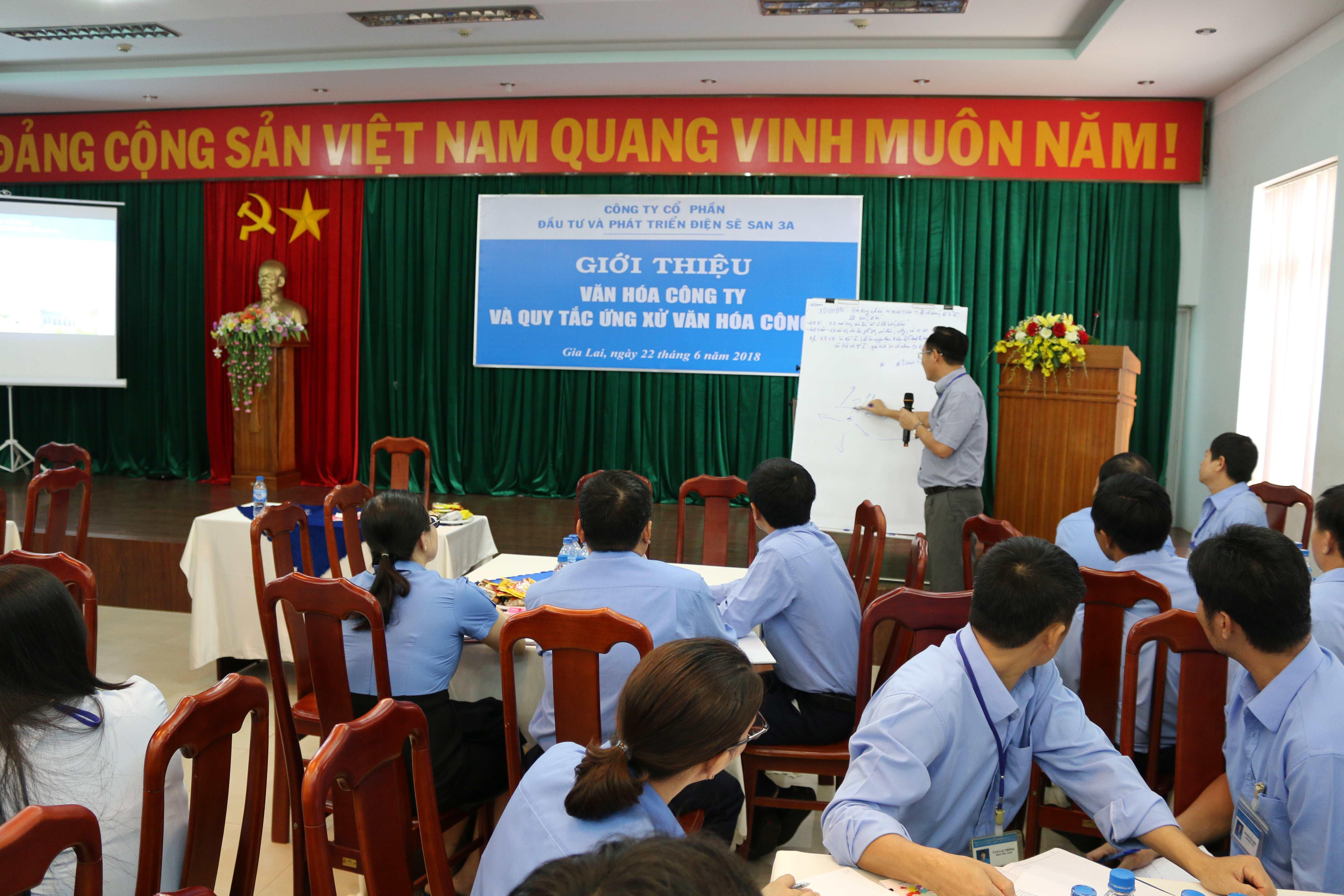 Sê San 3A thực thi văn hóa doanh nghiệp