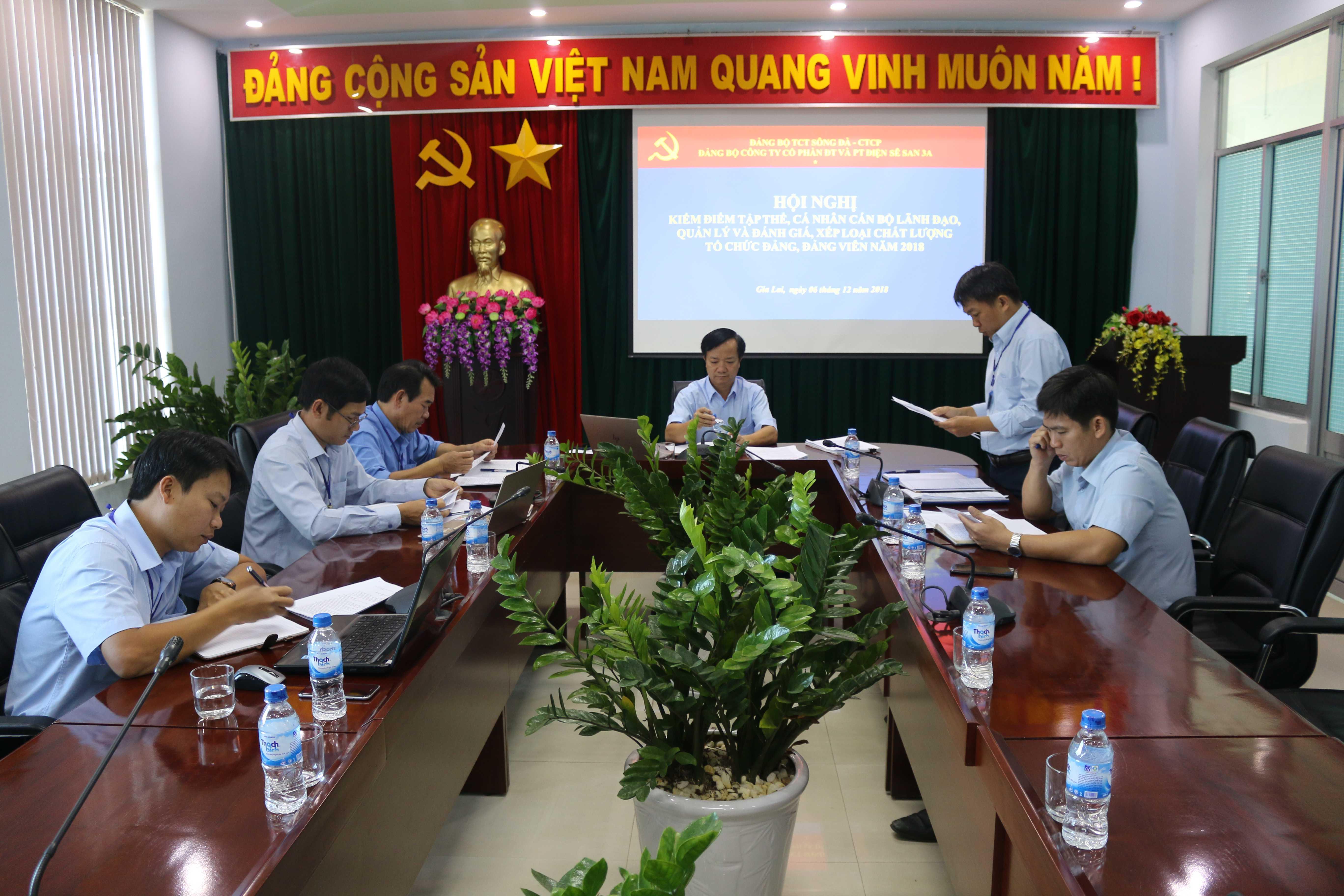 Hội nghị kiểm điểm tập thể, cá nhân cán bộ lãnh đạo, quản lý Công ty và đánh giá, xếp loại chất lượng tổ chức đảng, đảng viên năm 2018.