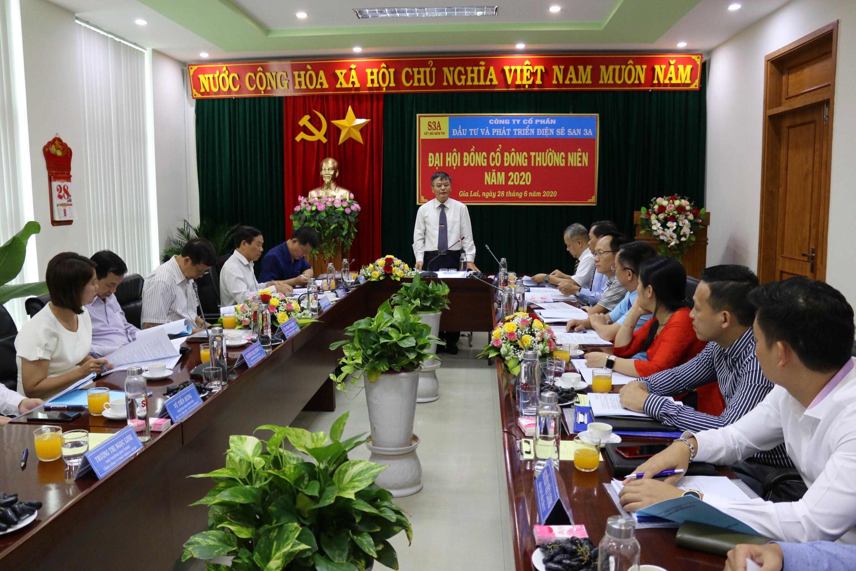 Sê San 3A tổ chức thành công Đại hội đồng cổ đông thường niên năm 2020