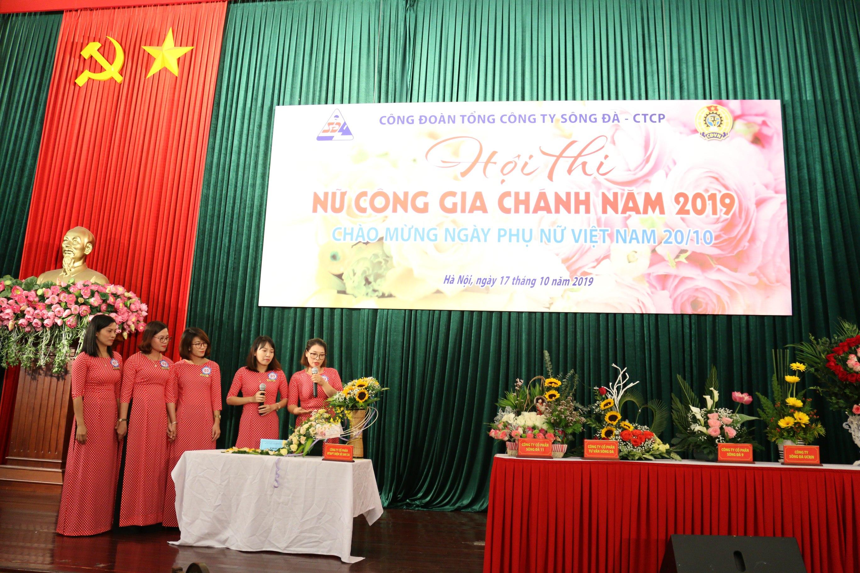 """Nữ công Sê San 3A """"khoe sắc"""" tại Hội thi nữ công gia chánh năm 2019 do Công đoàn TCT Sông Đà – CTCP tổ chức"""