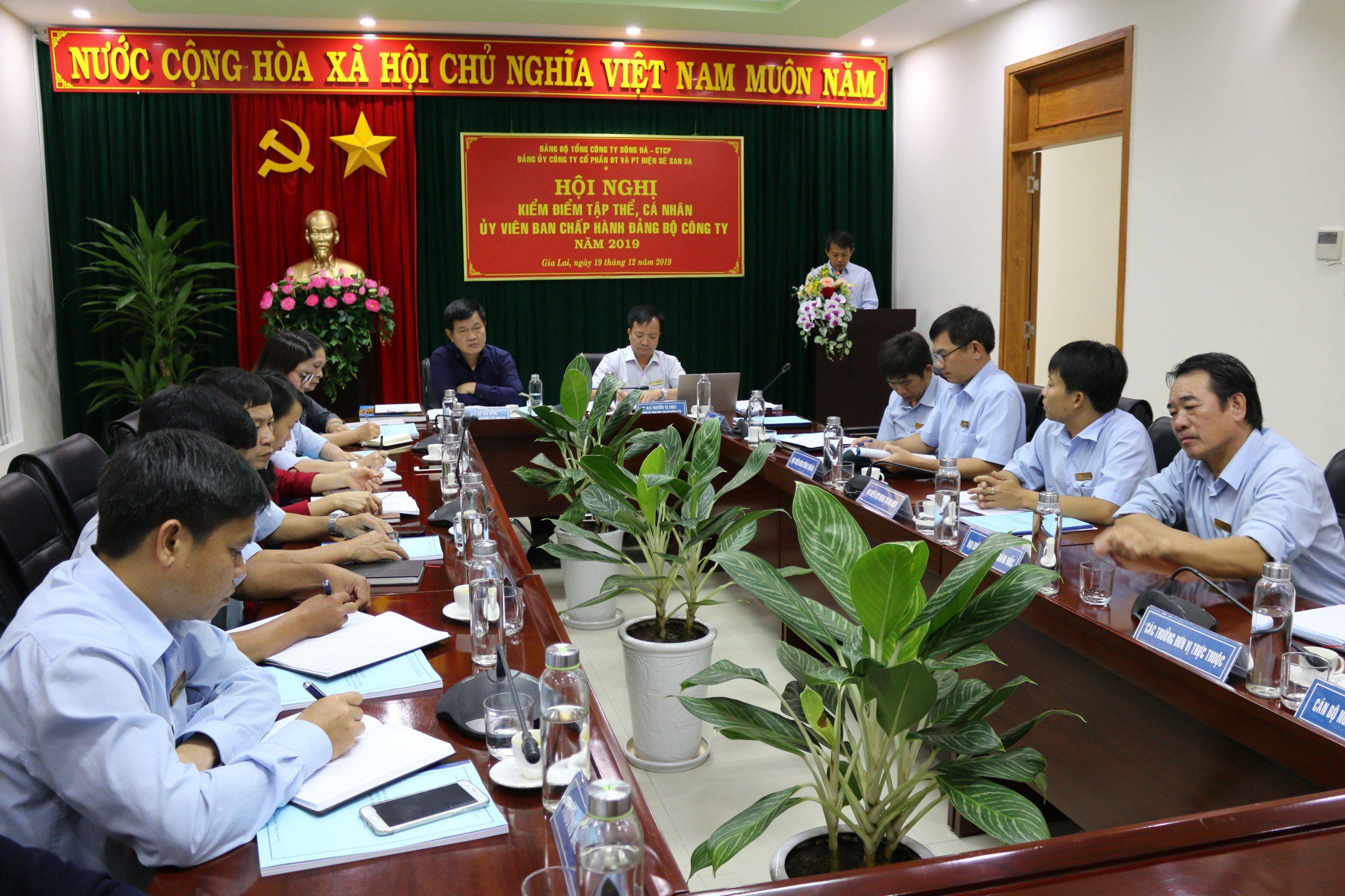 Hội nghị kiểm điểm tập thể, cá nhân Ủy viên BCH Đảng bộ Công ty năm 2019