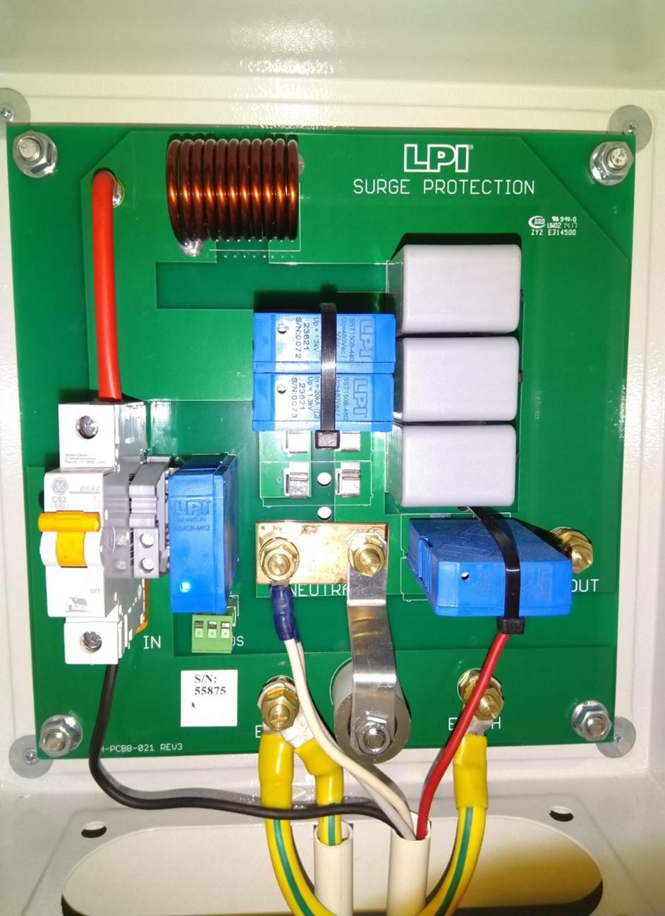 Sê San 3A lắp đặt thiết bị chống sét lan truyền