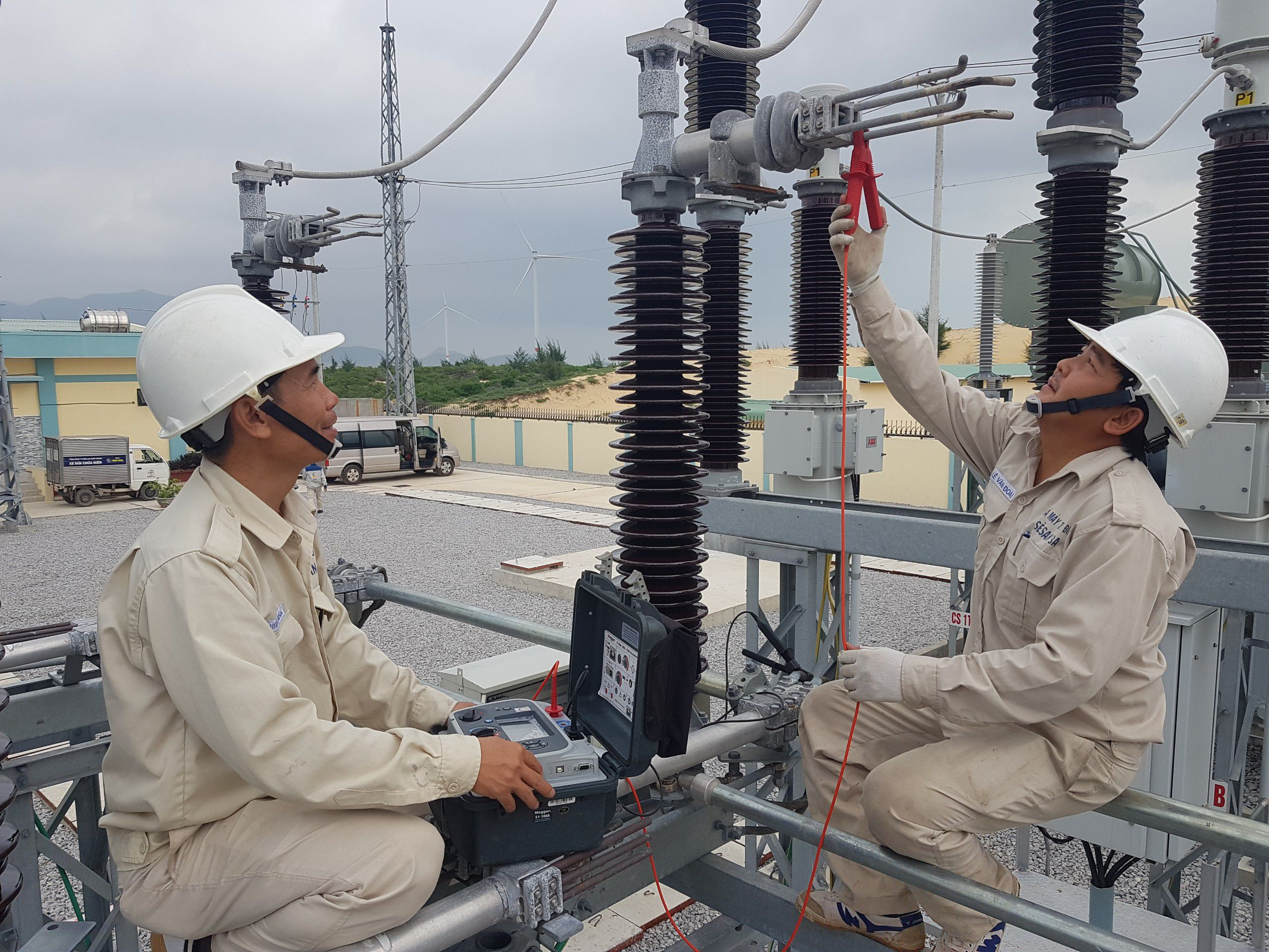Sê San 3A thực hiện thí nghiệm thiết bị điện nhà máy phong điện
