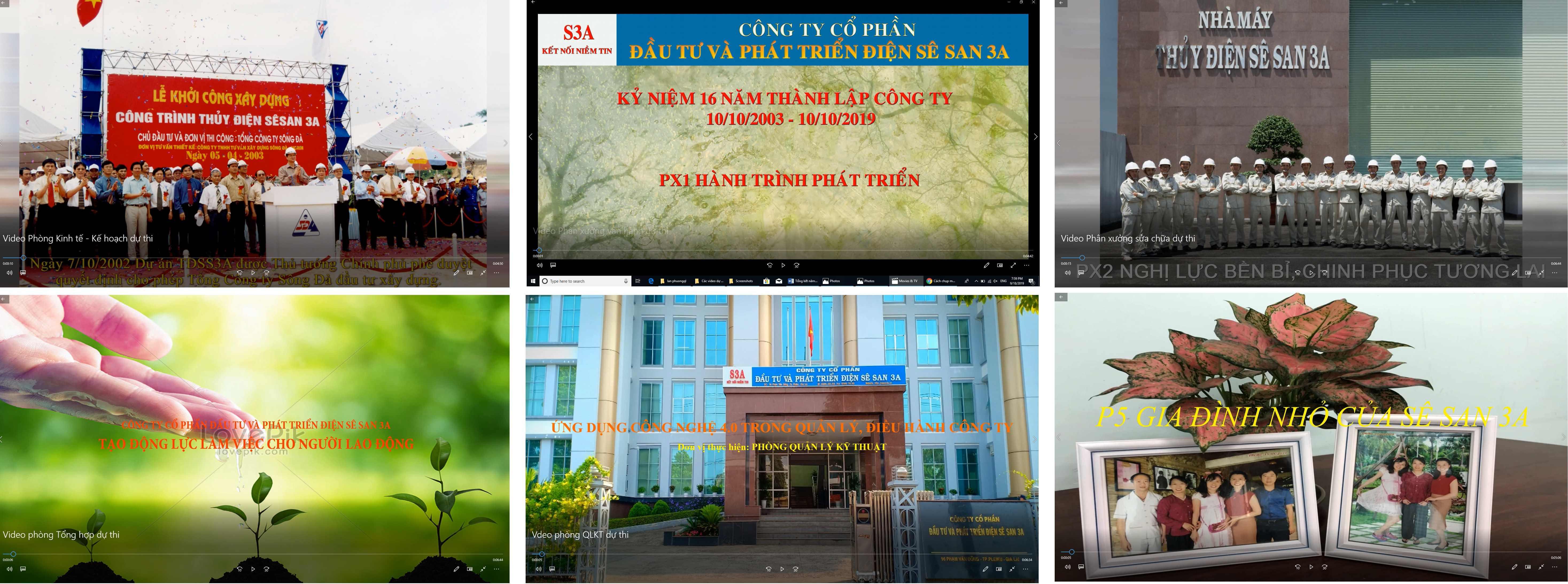 Người lao động Sê San 3A sáng tác video/clip hướng đến kỷ niệm 16 năm ngày thành lập Công ty