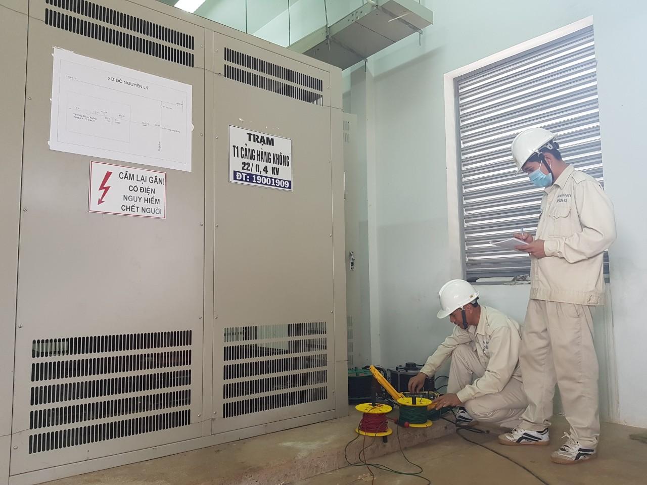Sê San 3A thực hiện dịch vụ bảo dưỡng, thí nghiệm định kỳ Trạm biến áp Cảng Hàng Không Pleiku