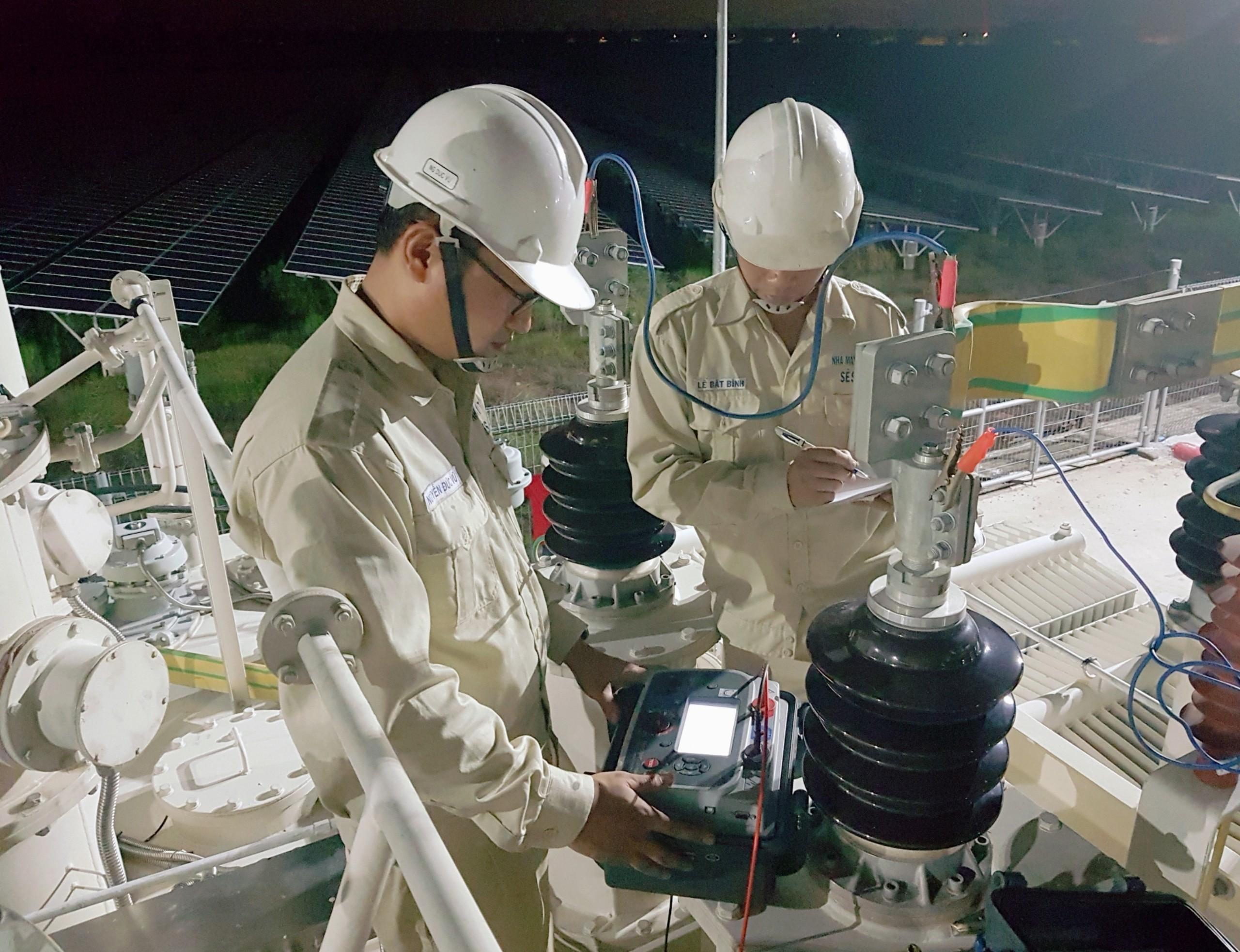 Sê San 3A thực hiện dịch vụ thí nghiệm thiết bị điện nhà máy điện mặt trời