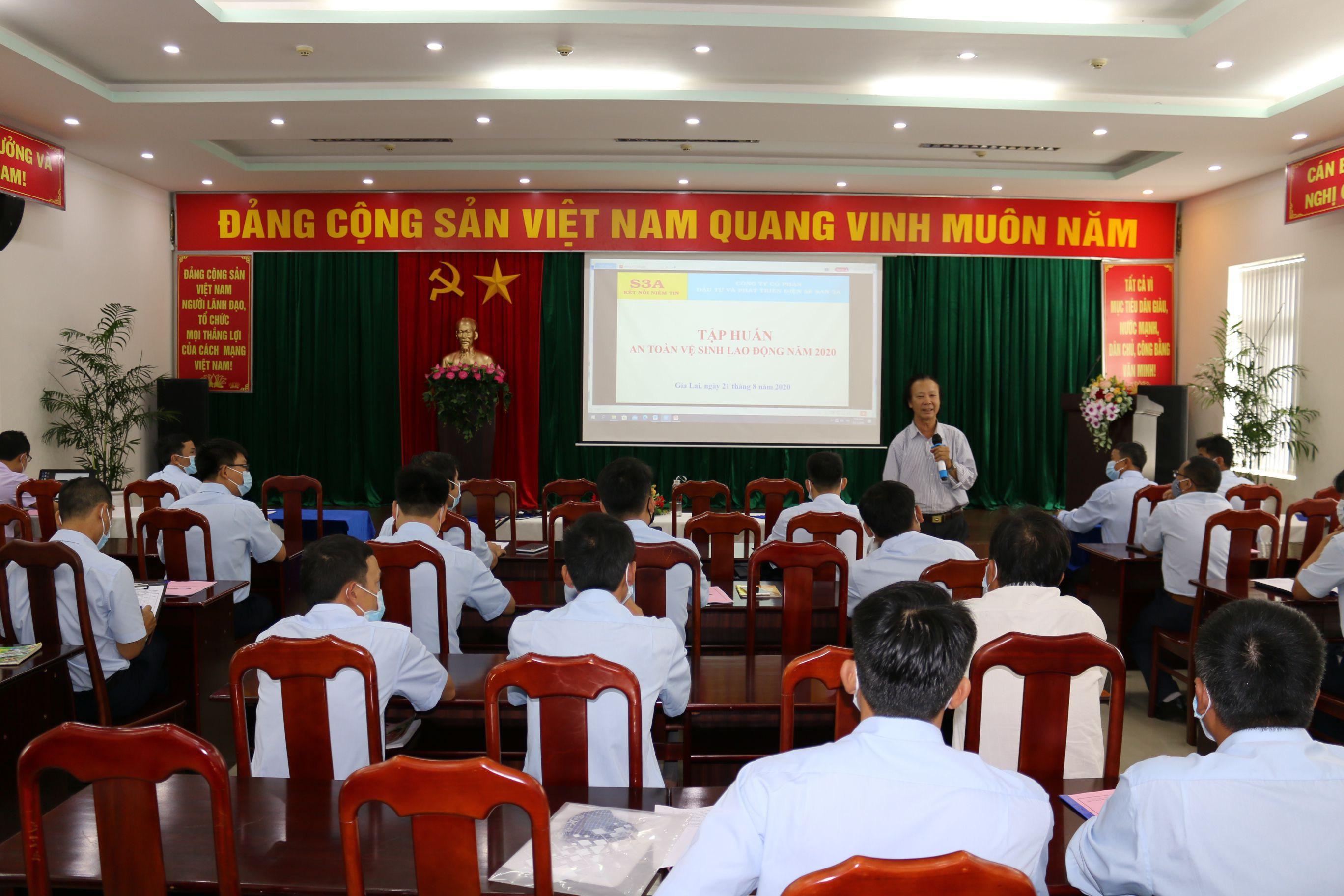 Sê San 3A huấn luyện kiến thức ATVSLĐ năm 2020