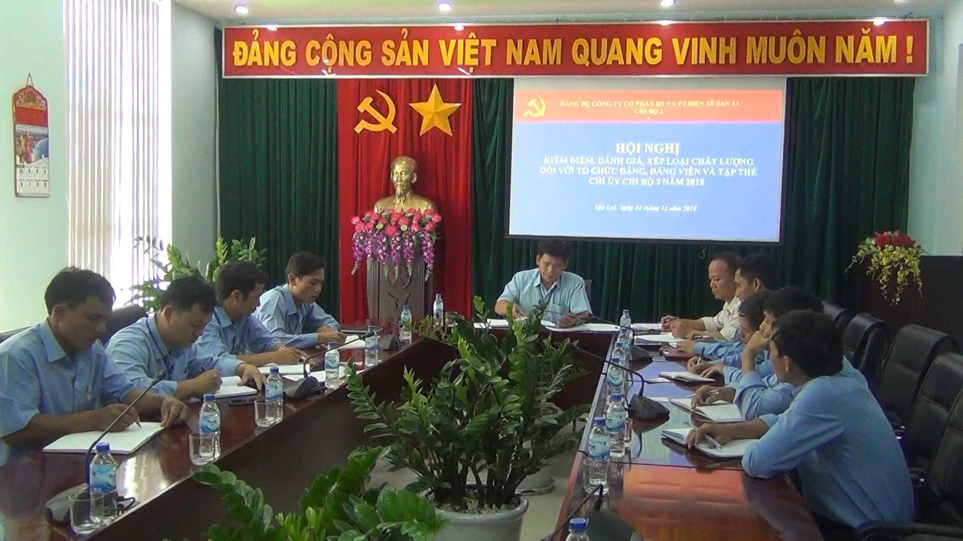 Tổ chức Hội nghị kiểm điểm, đánh giá, xếp loại chất lượng tổ chức đảng và đảng viên năm 2018 tại các Chi bộ trực thuộc Đảng bộ Công ty.