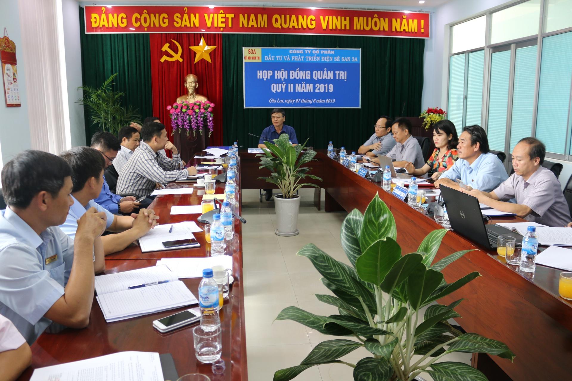 Sê San 3A họp Hội đồng quản trị quý II năm 2019