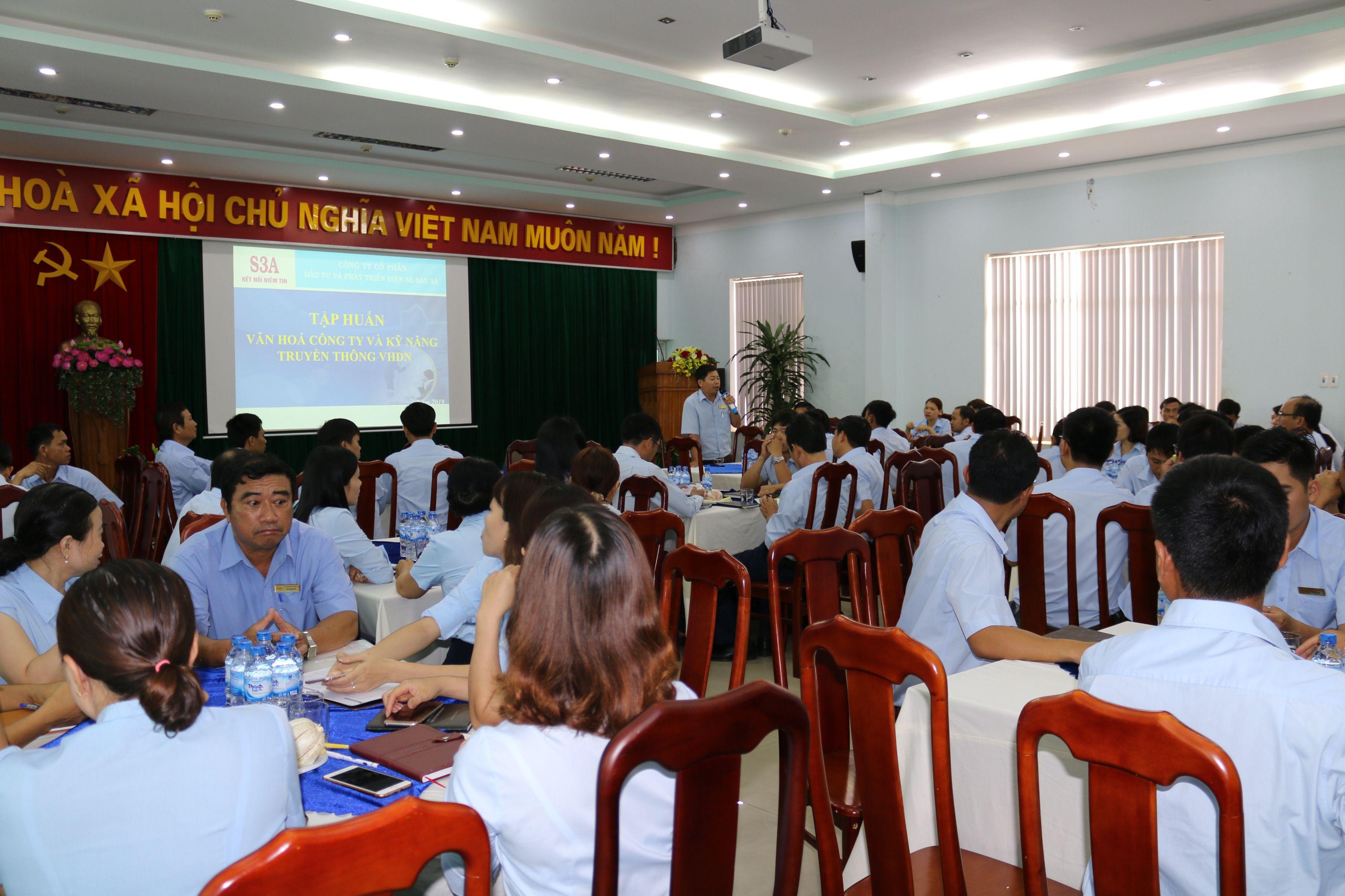 Sê San 3A tập huấn Văn hóa Công ty và kỹ năng truyền thông văn hóa doanh nghiệp
