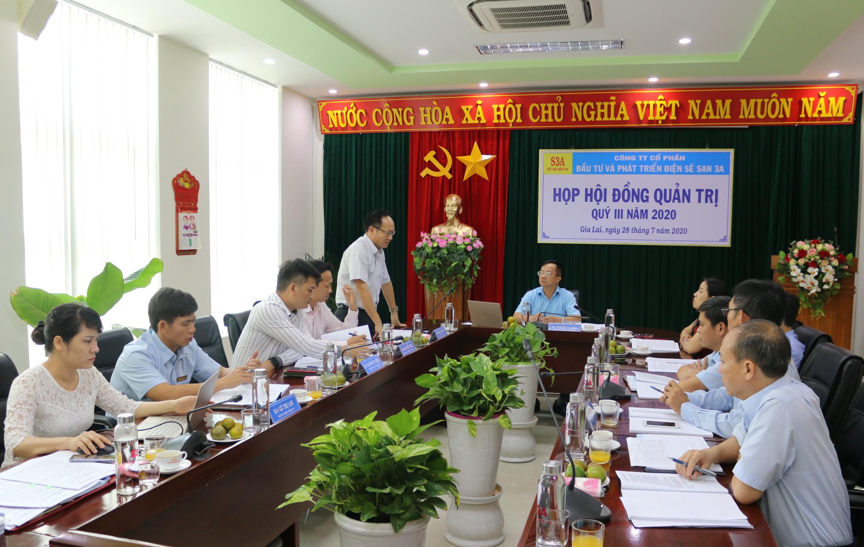 Sê San 3A họp Hội đồng quản trị quý III/2020